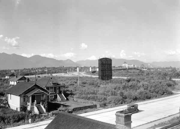 1934June21 - [View looking northwest from Granville Street showing the Burrard Bridge] - Stuart Thomson - AM1535-- CVA 99-5061