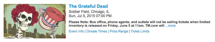 Ticketmaster - The Grateful Dead