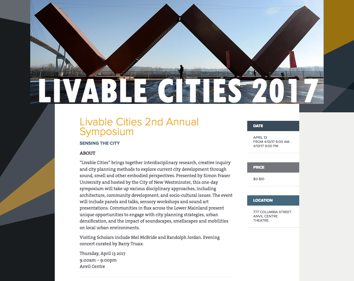 Livable Cities 2017